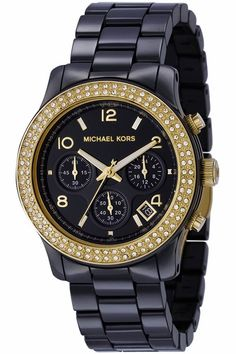 This is the one I want!!! Micheal Kors. Black gold watch.