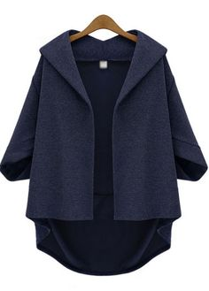 cropped navy coat