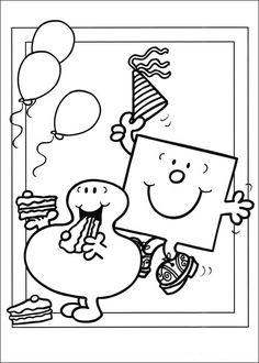 Mr. Men Tegninger til Farvelægning. Printbare Farvelægning for børn. Tegninger til udskriv og farve nº 21