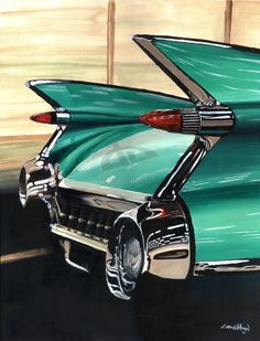 These are the best fins. 1959 Cadillac by ~CRWPitman on deviantART