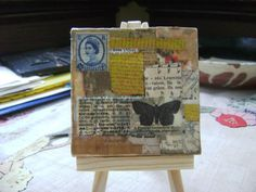 Geometra Mini Collage on canvas by ArtandBookShop on Etsy, $20.00