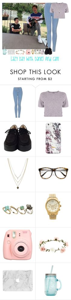 """""""Lazy Day With Daniel And Cam"""" by janoskianator07 ❤ liked on Polyvore featuring Topshop, Monrow, Orelia, Pull&Bear, Michael Kors, Polaroid, Accessorize and ALADDIN"""
