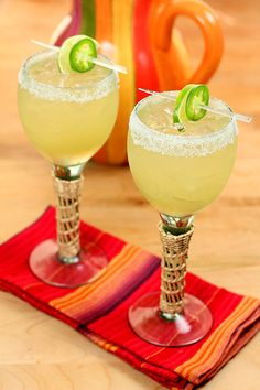 Jalapeno margaritas: if you're feelin' HOT, HOT, HOT! Click the photo for the recipe.