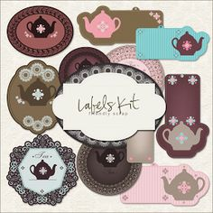 Friendly Scrap: New Freebies Labels Kit