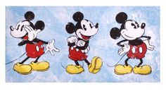 Canvastaulu Mickey Mouse 49,90€ Mickey Mouse Pictures, Mickey Mouse And Friends, Mickey Mouse Sketch, Painting Prints, Canvas Prints, Mouse Paint, Lily And Val, Triptych, Fabric Paper
