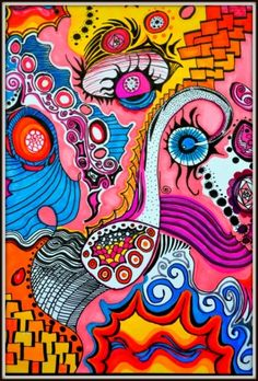 9d3af6c4ea3 8X10 Giclee Print of Original Pen and Ink Abstract Artwork by PricklyPaw  Ink Pen Drawings,