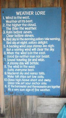 From oral traditions: Some pratical weather advice from the Yosemite backpacking…