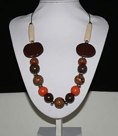 Drop Earrings, Orange, Jewelry, Fashion, Dark Brown, Darkness, Neck Chain, Pearls, Get Tan