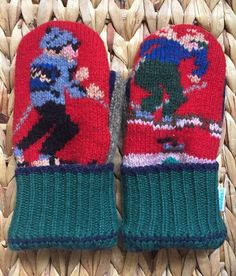Rary Skier Sweater Mittens ILoveWoolies