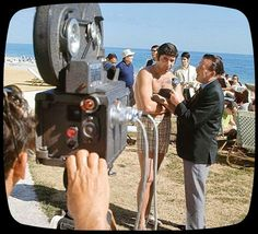 Joe Namath with Kyle Rote getting interviewed on beach before Super Bowl III game vs Baltimore Colts, Fort Lauderdale, FL Joe Namath, Baltimore Colts, Fort Lauderdale, Game, Beach, The Beach, Gaming, Beaches