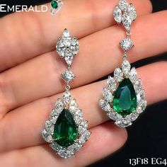 Sparkle like a star with beautiful emerald earrings.