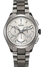 Rado Hyperchrome Timepiece with scratch resistant sapphire crystal combined with its plasma high-tech ceramic and stainless steel components ensure this watch will stand the test of time.