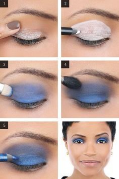 Navy Blue Color for Darker Skin Tone | Makeup Mania