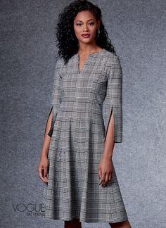 Vogue Patterns, Dress Patterns, Sewing Patterns, Miss Dress, Princess Seam, Colorblock Dress, Fall Wardrobe, Wrap Dress, Autumn Fashion