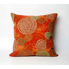 Toss Pillows :: Stock Colors of Toss Pillows :: Graffiti Swirl Warm Indoor/Outdoor Throw Pillow Modern Throw Pillows, Toss Pillows, Outdoor Throw Pillows, Decorative Throw Pillows, Fabric Art, Modern Contemporary, Graffiti, Artsy, Warm