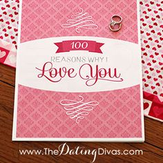 Simply print out and fill in the blanks in this gorgeous and memorable 100 Reasons Why I Love You book. Perfect for your next anniversary, birthday, Valentine's Day, or a 'just because' special occasion.