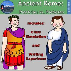 Ancient Rome: Patrician vs. Plebeian is one lesson from my larger unit, Ancient Rome Interactive Notebook. This lesson will have your students complete a simulation to help them decide if they would rather be a patrician or plebeian in Ancient Roman times. This lesson includes the simulation lesson plan and the writing piece at the conclusion of the simulation. Please review the preview as simulations can be controversial at times and need the support of your administration and parents.