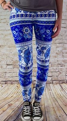 0ab9b855da Floral and Print Stripe Leggings One Size 2-10 by JewelryAppeal on ...