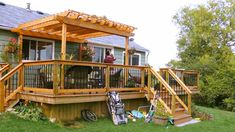 If your home is small and you want to increase its area then you can do this by adding a pergola deck to anyone wall of house from outside. It is very easy to build a deck pergola outside your home for that you just have to choose the wall to start. Deck Pergola, Building A Pergola, Cheap Pergola, Wooden Pergola, Backyard Patio, Wood Arbor, Pergola Ideas, Patio Ideas, Building Plans
