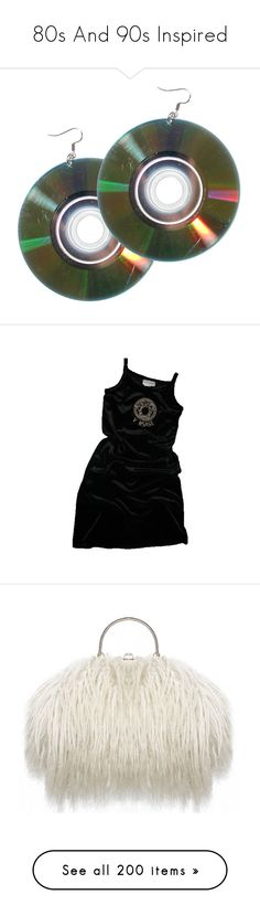 """""""80s And 90s Inspired"""" by maryisnotmyname ❤ liked on Polyvore featuring jewelry, earrings, accessories, punk rock earrings, punk jewelry, statement earrings, silver jewelry, vintage earrings, dresses and bags"""