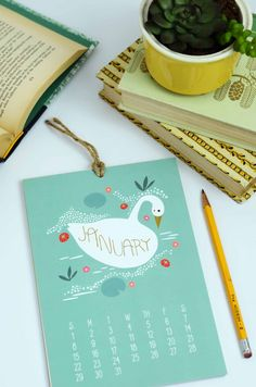 2017 Calendar Enchanting Animals Wall Calendar Gifts by Gingiber