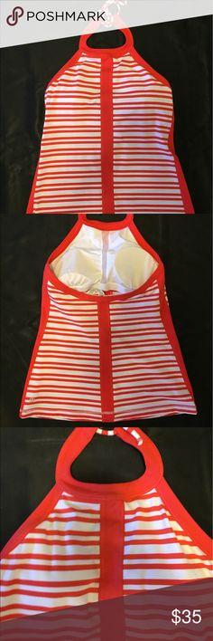 Spotted while shopping on Poshmark: Lulu lemon red and white halter top! #poshmark #fashion #shopping #style #lululemon athletica #Tops
