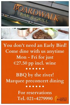 You don't need an Early Bird!! Come dine with us!