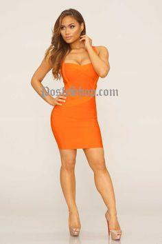 Shea Bandage Dress - Orange