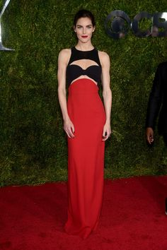 Hilary Rhoda in Michael Kors. See what everyone wore to the 2015 Tony Awards.