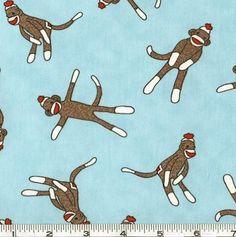 45'' Wide Moda Funky Monkey Sock Blue Fabric By The Yard by Moda, http://www.amazon.com/dp/B001UUFE5K/ref=cm_sw_r_pi_dp_zfxUpb15ZWBN9