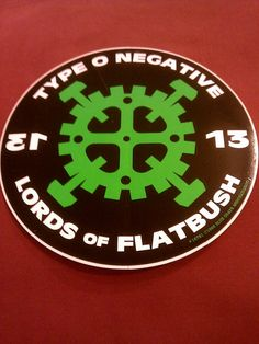 "Type O Negative 13 Lords of Flatbush 5"" Round Sticker Decal new old stock I had this sticker on my Camry in 1995! One of the many reasons I hated it when they stole my car!"