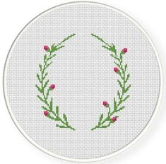 Laurel Border Cross Stitch Pattern