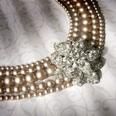 Vintage Pearls and Rhinestones for the bride...