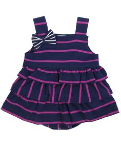 The jersey sunny suit is perfect for warmer days and holidays ! Made from our stripe jersey fabrics, the style has close fitting bodice with self fabric frills and bow to strap. Popper fastening to legs and straps for easy dressing. Striped Jersey, Navy Stripes, Simple Dresses, No Frills, Sunnies, Cheer Skirts, Pregnancy, Pink, Dressing
