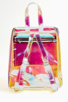 Nasty Gal - New & Vintage Clothing * i have a clear red white & blue bag just like this. I won it at a shitty telemarketing job. Its been to many festive events - not irredescent tho