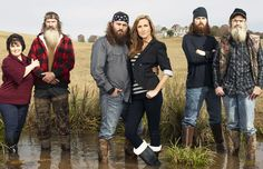 Mrs.Kay and Phil,Willie and Korie,Jace and Uncle Si
