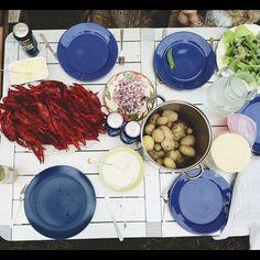 Swedish Crayfish Feast.  Photo by awhitechelsea • Instagram