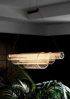 Milan Design Week: Euroluce, Roll & Hill and Foscarini. — more space magazine Milan Design Week: Euroluce, Roll & Hill and Foscarini. — more space magazine L And Light, Light Art, Cool Lighting, Pendant Lighting, Industrial Lighting, Modern Lighting Design, Pendant Lamps, Ceiling Pendant, Light Pendant