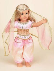 "18"" Doll belly dancing outfit - love this! #americangirl #bellydance (Can't…"