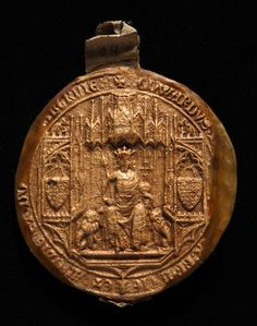 Edward III Great Seal, obverse. 14th Century. National Archives reference:  SC 13/I89. http://discovery.nationalarchives.gov.uk/SearchUI/Details?uri=C3683867