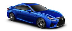 """2015 RC F   in Ultrasonic Blue Mica 2.0 with 19-in split-five-spoke forged alloy wheels<span class='tooltip-trigger disclaimer' data-disclaimers='[{""""code"""":""""TIREWEAR5"""",""""isTerms"""":false,""""body"""":""""19-in performance tires are expected to experience greater tire wear than conventional tires.  Tire life may be substantially less than 15,000 miles, depending upon driving conditions.""""}]'><span class='asterisk'>*</span></span>, angle 3"""