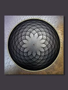 Zeichenfolge Kunst Black Lotus Wand Kunst Lotus Blume Wand Fraktale Heilige Geometrie Wand Kunst Holz Mandala Wand Kunst Dekor spirituelle Holz Wandkunst