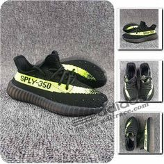 cd636c7f971cb Adidas Yeezy Boost 350 V2 Les Nouvelles Chaussure Enfant Noir Vert  aditrace