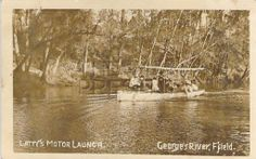 Latty's Motor Launch On The Georges River Picnic Spot, Water Supply, Wooden Boats, Wonderful Places, Old Photos, The Past, Scenery, Around The Worlds, Ten Minutes