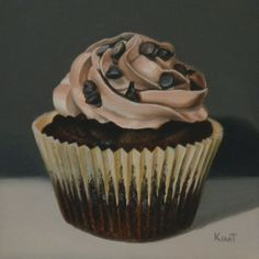 Original Daily Oil Painting Triple Chocolate by KimTestoneArt