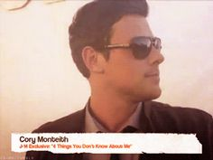 """Cory Allan Monteith — coryquotes: """"Um, four things you did not know..."""