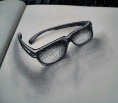 30 días dibujando: 01/30.  #Dibujo #drawing #pencil #art #glasses