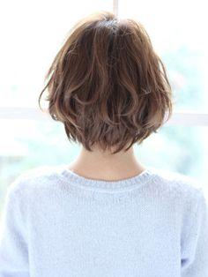 【after】無造作パーマスタイル~愛され小顔ボブ~