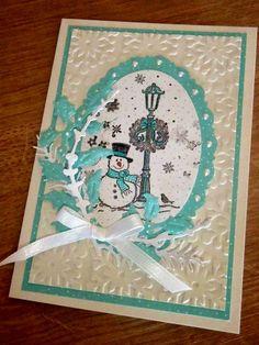 Kika's Designs : White-blue Christmas