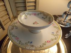 ANTIQUE NIPPON CHINA Two  Tiered Tidbit by VintageCreativeAccen, $24.00